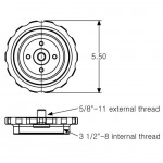 3 1/2-8 TO 5/8-11 INSTRUMENT ADAPTER